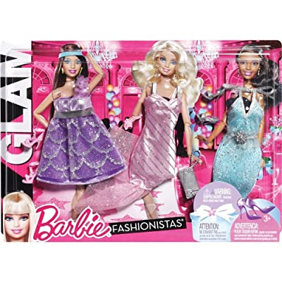 Barbie Fashionistas: Night Looks Clothes - Glam Night Out Pastel Fashions: Toys & Games