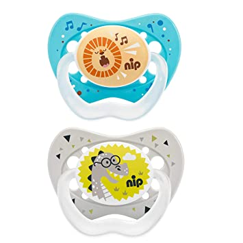 BPA-Frei NIP Schnuller Family kiefergerecht: Mindert Druck auf Z/ähne /& Kiefer Made in Germany 0-6 Monate Latex Gr/ö/ße 1 Boy