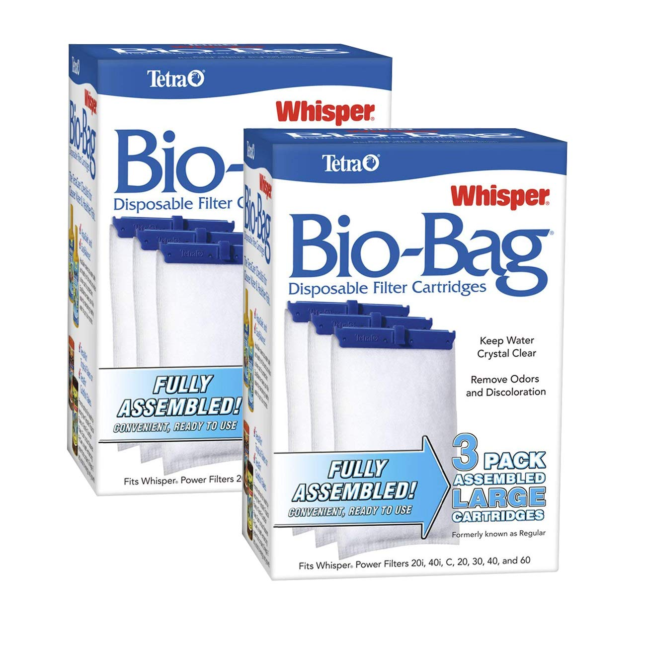 Tetra Whisper Assembled Bio-bag Filter Cartridges, Large, 6-Count by Tetra