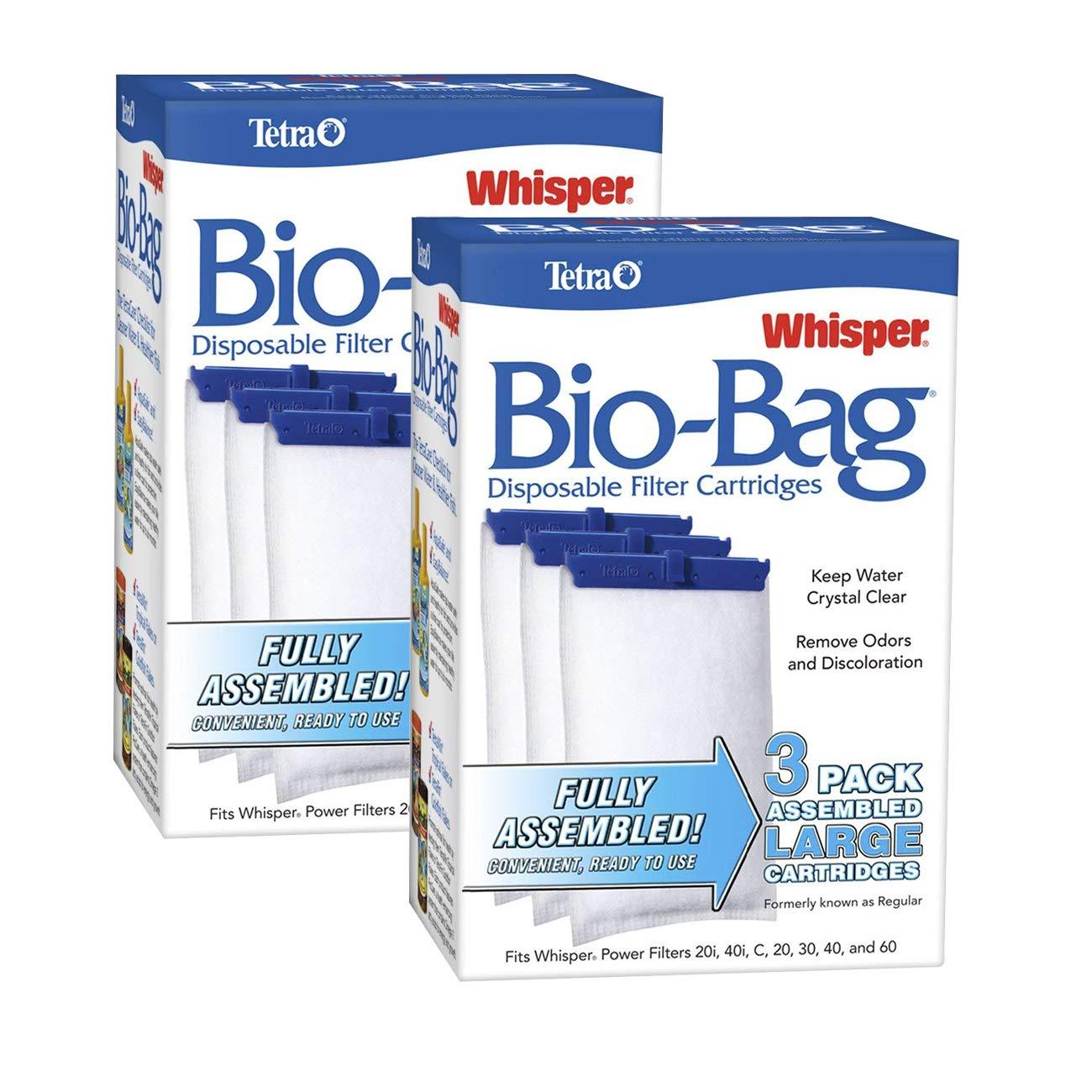 Tetra Whisper Assembled Bio-bag Filter Cartridges, Large, 6-Count
