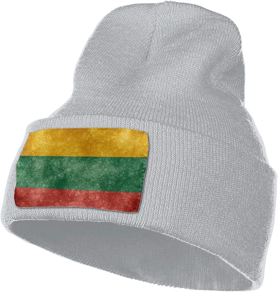shenguang Bandera de Lituania Sombrero de Invierno Gorro de Punto cálido Gorro de Lana Gorro de Orinal sin ala Gorro de Calavera