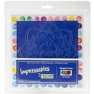 """Gel Press Impressables 7"""" Embossed Rose Mandala Block Printing 10815-JEN-02"""