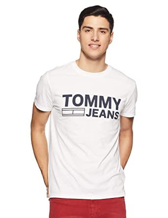5df4de0b5 Tommy Hilfiger Men s Printed Regular Fit T-Shirt  Amazon.in  Clothing    Accessories