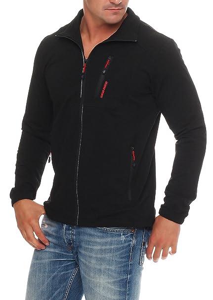epister Hombre Chaqueta Sport Chaqueta Sudadera Chaqueta de streetwear Outdoor Camiseta 57105 negro M/52: Amazon.es: Ropa y accesorios