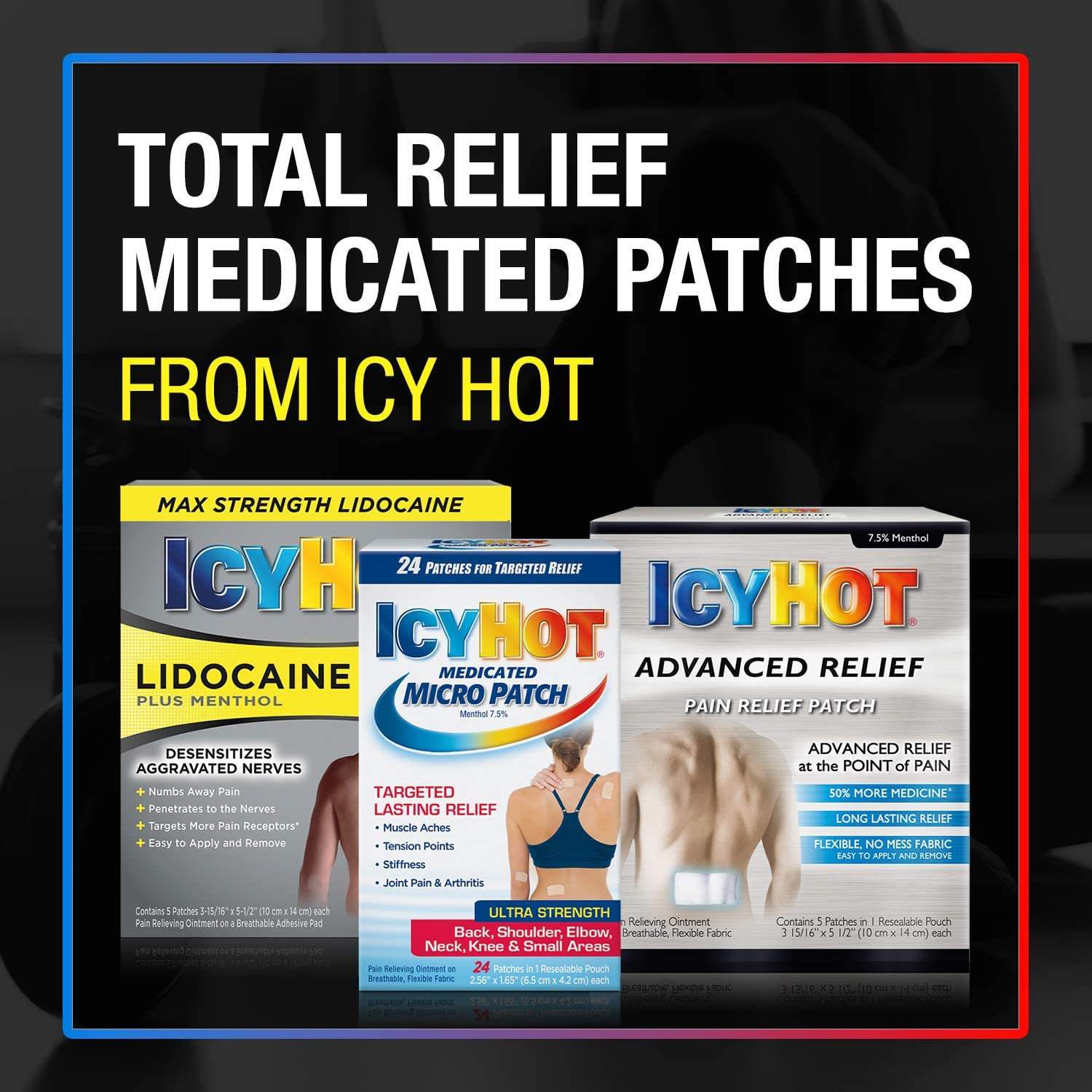 Icy Hot, Topical Analgesic Back Patch, 5 CounT: Health & Personal Care