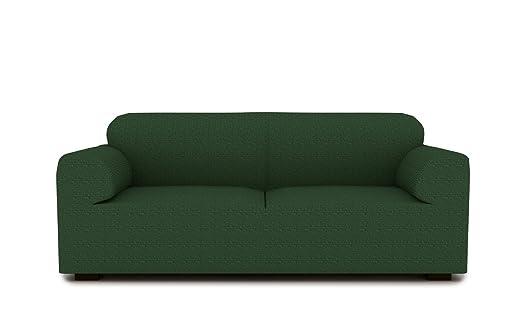 textil-home Funda de Sofá Elástica TIDAFORS, 3 plazas - Desde 180 a 240 cm. Color Verde (Modelo Exclusivo Funda Sofá TIDAFORS IKEA)