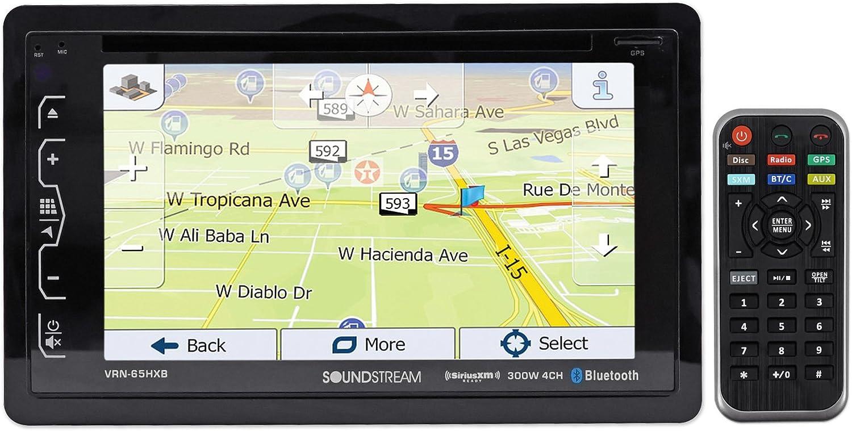 "SOUNDSTREAM VRN-65HXB 6.2"" in-Dash Car Navigation GPS Bluetooth DVD/CD Receiver"