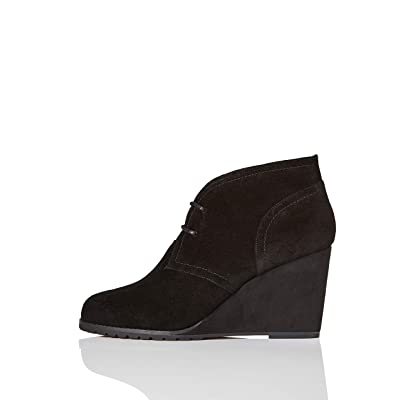 Amazon Brand - find. Lace Up Wedge Bootie, Women's Ankle boots: Shoes