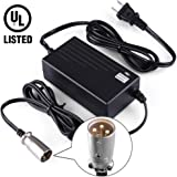 LotFancy 24V 2A Scooter Battery Charger for Jazzy Power Chair,Pride Hoveround Mobility,Schwinn S300 S350 S400 S500 S650,Ezip 400 500 650 750 900 Mountain Trailz,Shoprider,Golden Buzzaround Lite