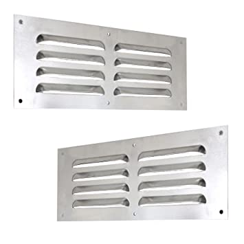 260x105mm //// 10x4 Stainless Steel Air Vent Grille Cover Ventilation Grill Cover mr26105i