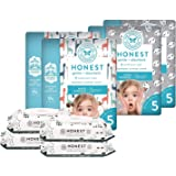 The Honest Company Super Duper Club Box with TrueAbsorb Baby Diapers & Honest Baby Wipes | Size 5 | Eco-Friendly Diapers | Hypoallergenic Wipes | Stylish Prints