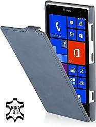 StilGut, UltraSlim, pochette exclusive de cuir véritable pour le Nokia Lumia 1020, old style bleu océan