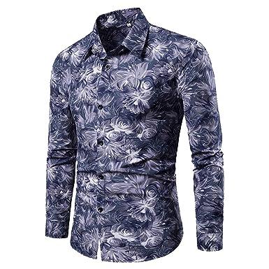 TIFIY - Camisa de Manga Larga para Hombre, Estilo Informal, M-3XL ...