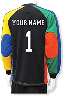 c062e041a6c Amazon.com  Soccer Goalkeeper Jersey personalized with your name and ...