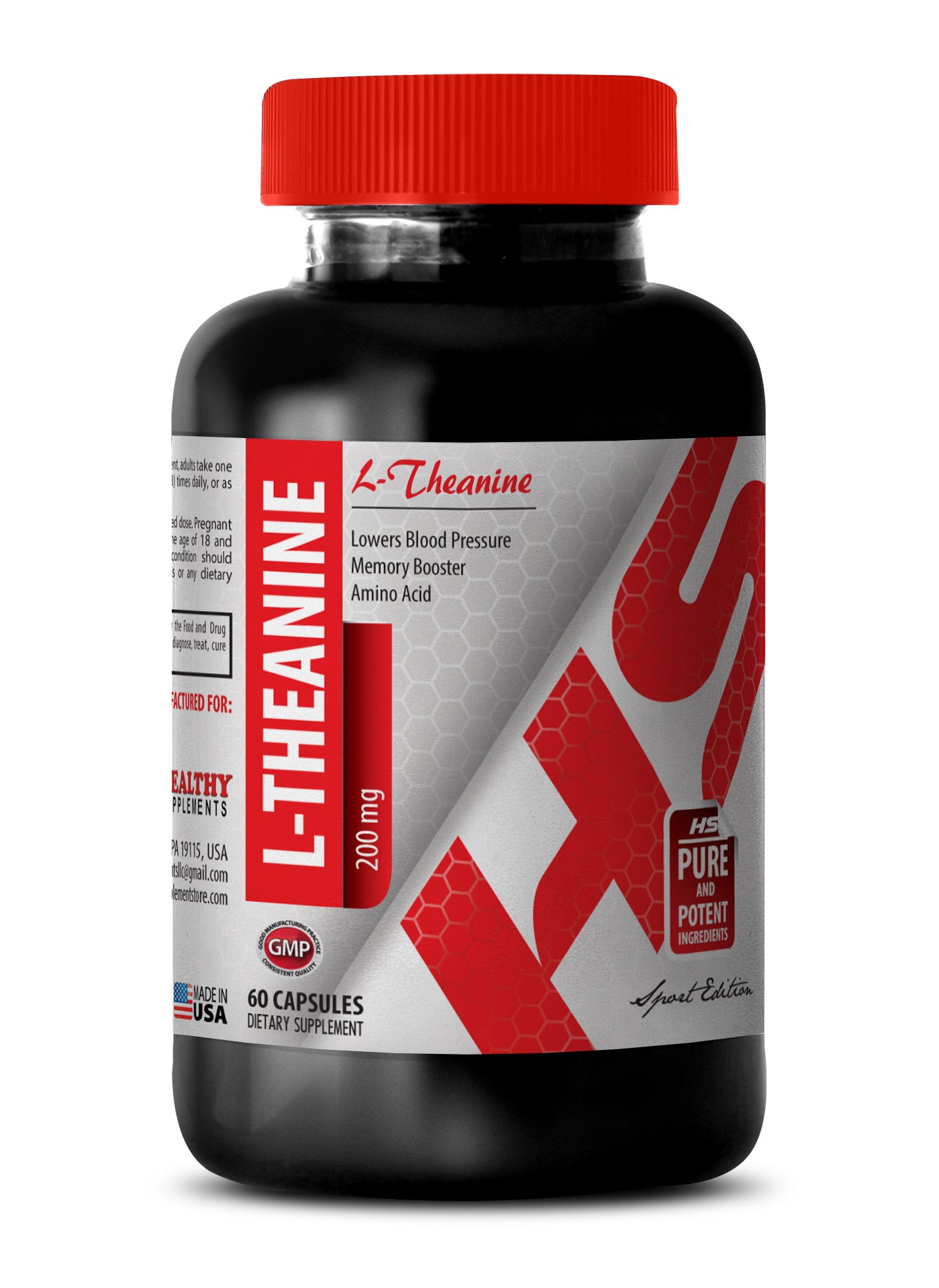 L-theanine man - NATURAL L-THEANINE 200MG - cope with anxiety (1 Bottle)