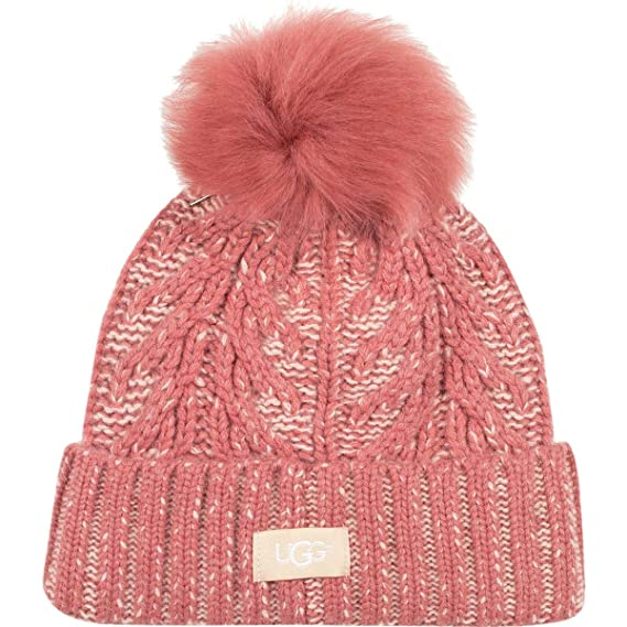 be6d1d6a010 Image Unavailable. Image not available for. Colour  UGG Women s Cable Knit  Pom Beanie ...