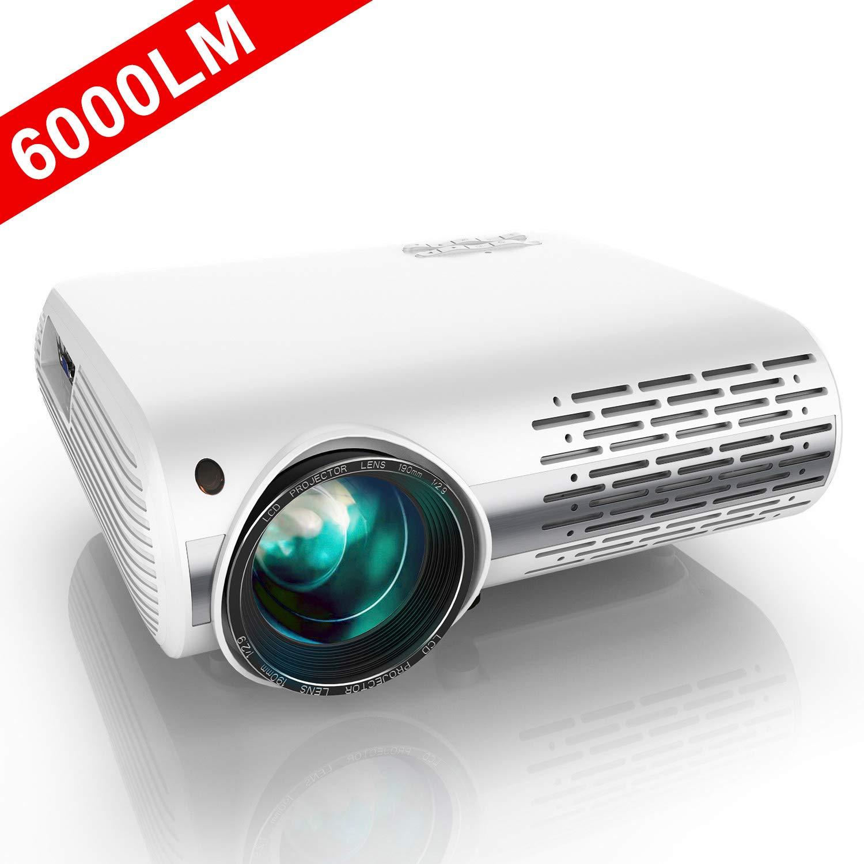 YABER Proyector Full HD 1080P (1920 x 1080) 6000 Lúmenes Proyector ...