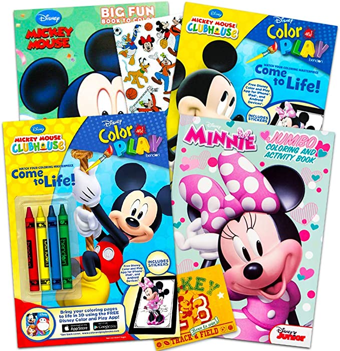 - Amazon.com: Disney Mickey Mouse Coloring Book Super Set With Stickers (4 Mickey  Mouse Activity Books For Kids Toddlers): Toys & Games