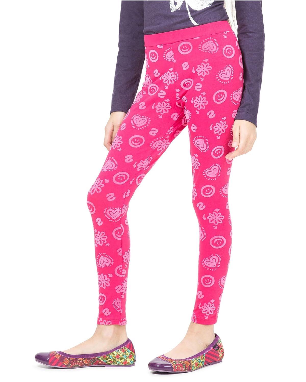 Sizes 5-14 Desigual Girls Leggings Cross Fushia