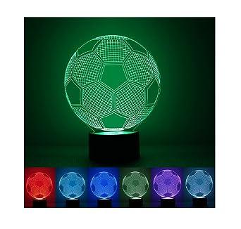 3d óptico LED Illusion lámpara, 7 Cambio de color acrílico ...