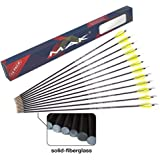 "M.A.K 26"" Solid Fiberglass Target Arrows,Extremely Safe Training Arrows for Beginner Youth Children for Recurve"