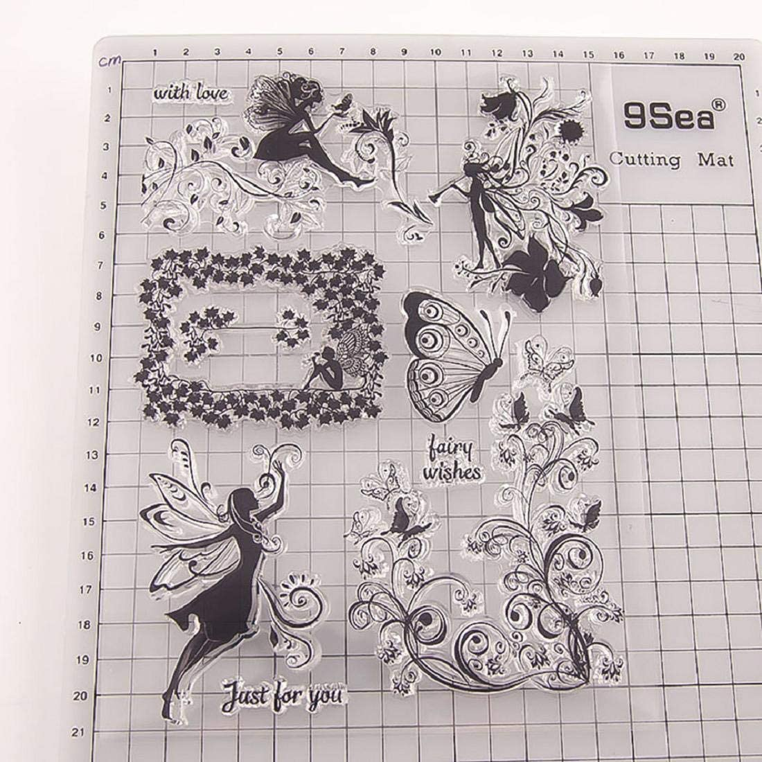 Butterfly Silicone Rubber Stamp Seal Clear scrapbooking Diary Cards DIY Decor