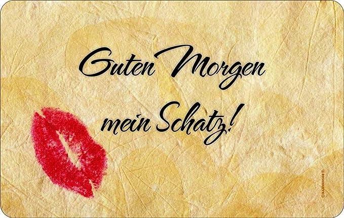 Resopal avec inscription en allemand guten morgen mein schatz die ...