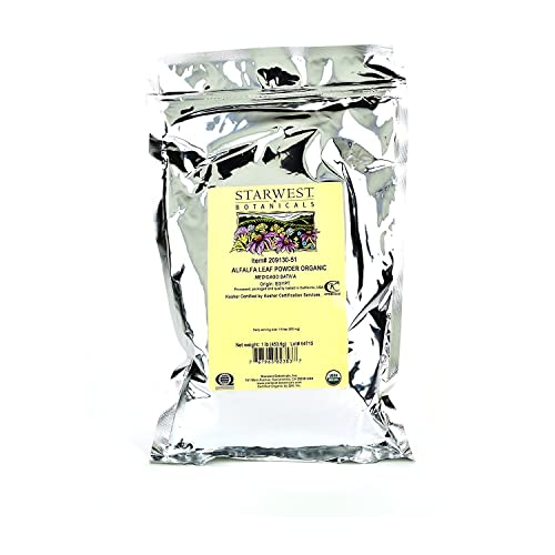 Starwest Botanicals Organic Egyptian Alfalfa Leaf Powder, 1 Pound Bulk Bag
