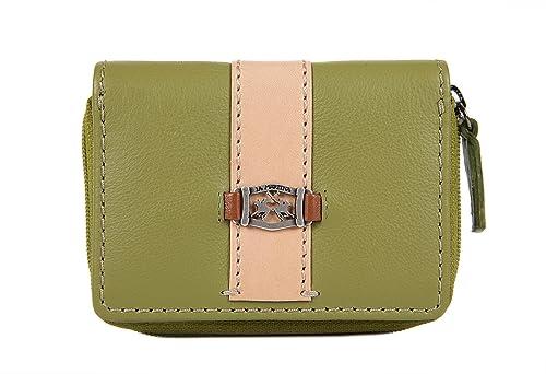 La Martina monedero cartera bifold de mujer en piel nuevo matias verde: Amazon.es: Zapatos y complementos