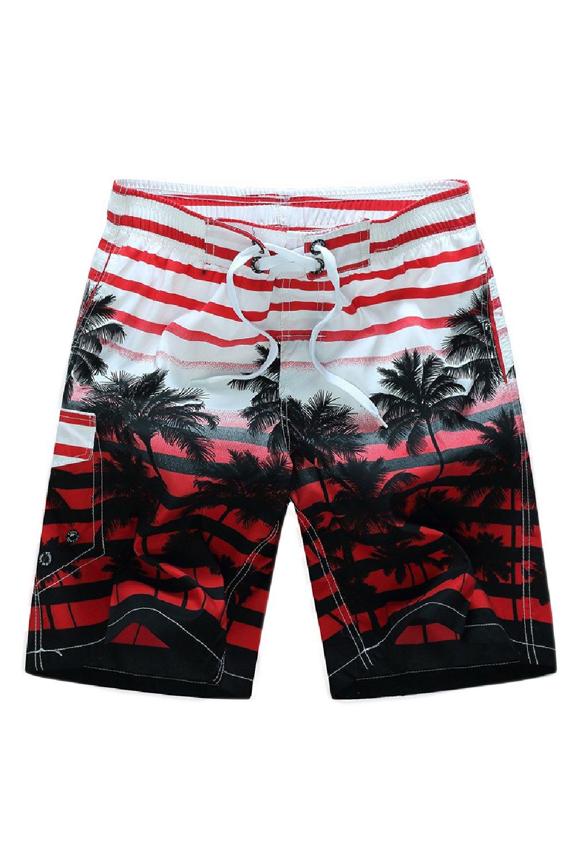 Fanvans hombres Ropa de playa Pantalones cortos De Secado Rapido De Frente Plano Corto Floral yf4EMS