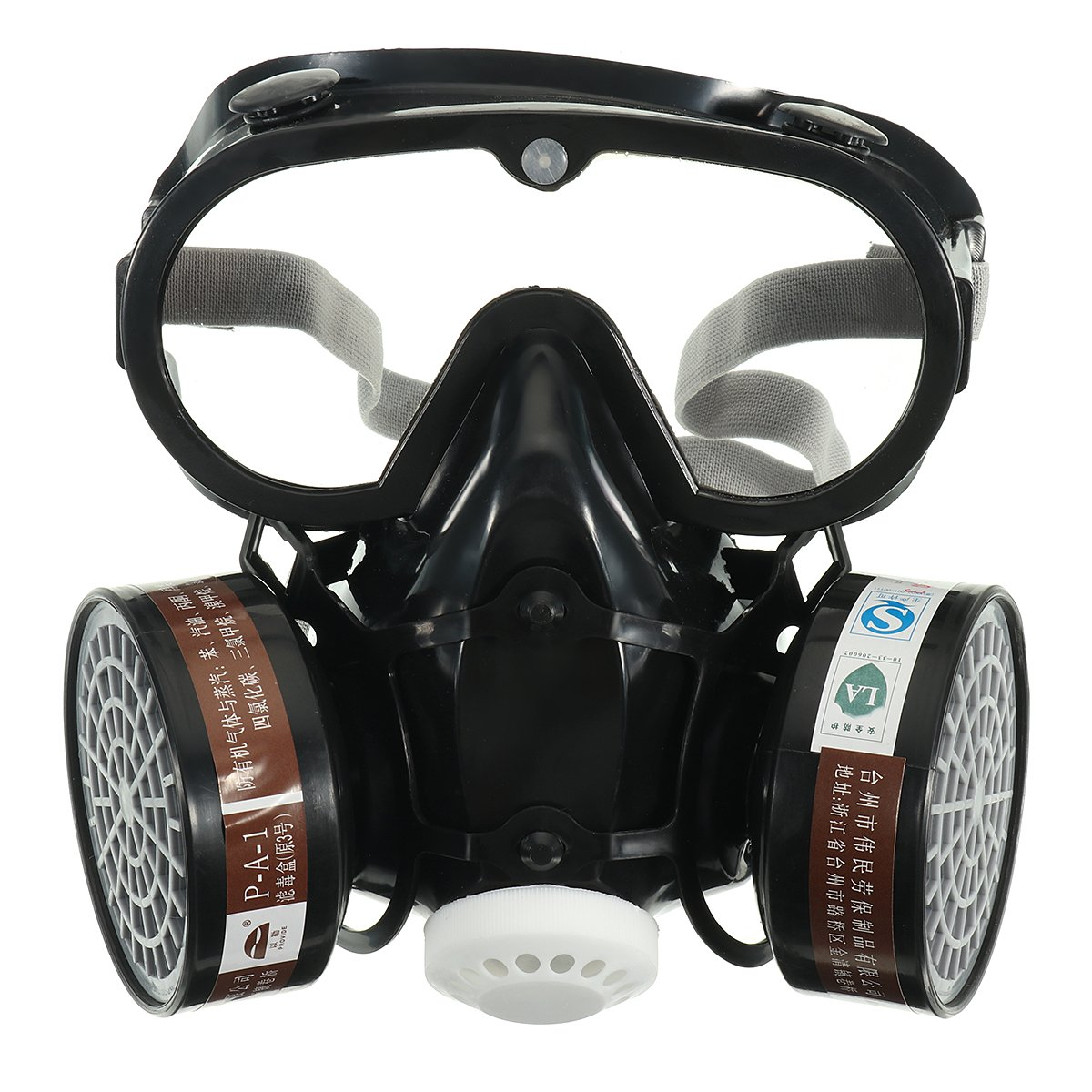 OlogyMart Respirator Gas Mask Safety Chemical Anti-Dust Filter Military Eye Goggle Set Workplace Safety Prote