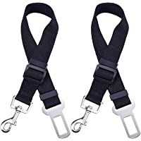 Mudder Dog Seat Belt, Dog Cat Car Safety Seat Belt Harness Adjustable Leads Harness for Cars Vehicle, 2 Pack