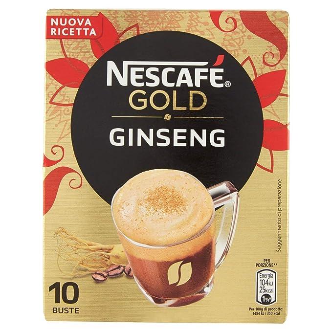 66 opinioni per NESCAFÉ GOLD Ginseng Preparato Solubile per Caffè al Ginseng Astuccio 10