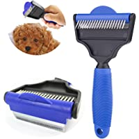Disgian Dog Brush Dog Comb,Dual Sides Rubber and Undercoat Rake for Dogs Cats + Horses. Cat Brush for Shedding, Cat…