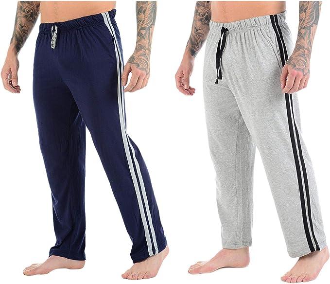 Bahob® Pack de 2 Pantalones de Pijama para Hombre, diseño de Rayas: Amazon.es: Ropa y accesorios