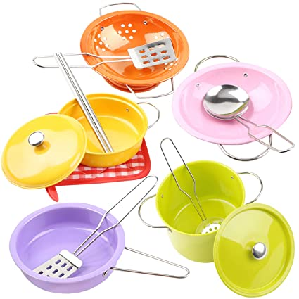 Amazoncom Kytoy Colorful 13pcs 68 Pretend Play Kitchen Cookware