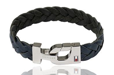 8ccca5fbbd9a2 Tommy Hilfiger Th Men's Leather Bracelet 2700873 Blue: Amazon.co.uk ...