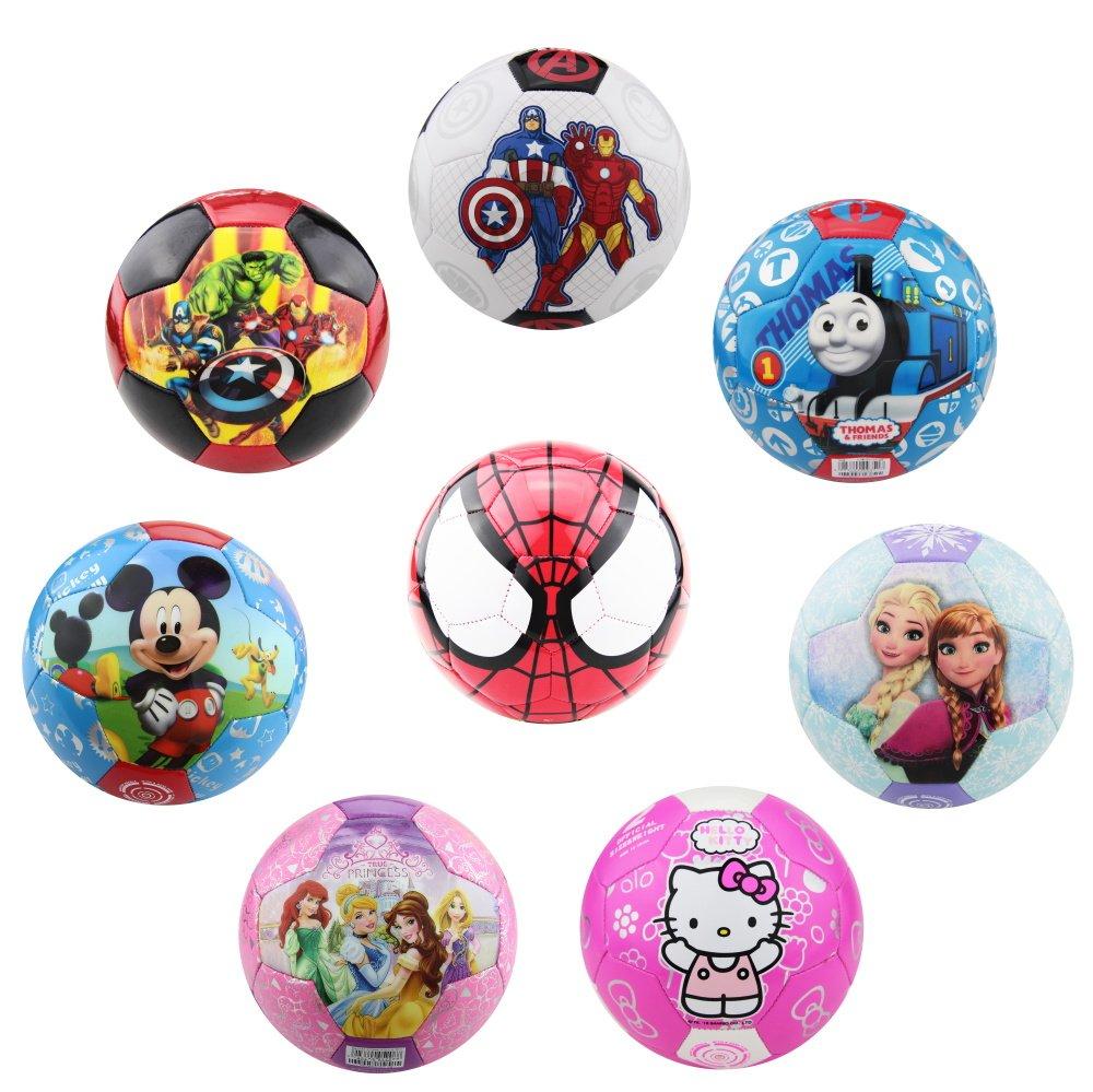 physcool Mikey/ディズニープリンセスPVCサッカーfor Kids Disney Authorized公式サイズ3 mesucaシリーズ[ブルー/ピンク] B07D26XRLSSpider Man/Red