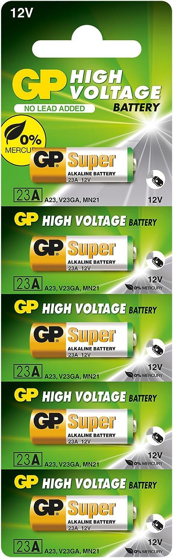 GP Batteries 23A - Pila alcalino de 12 V, (paquete de 5 unidades)