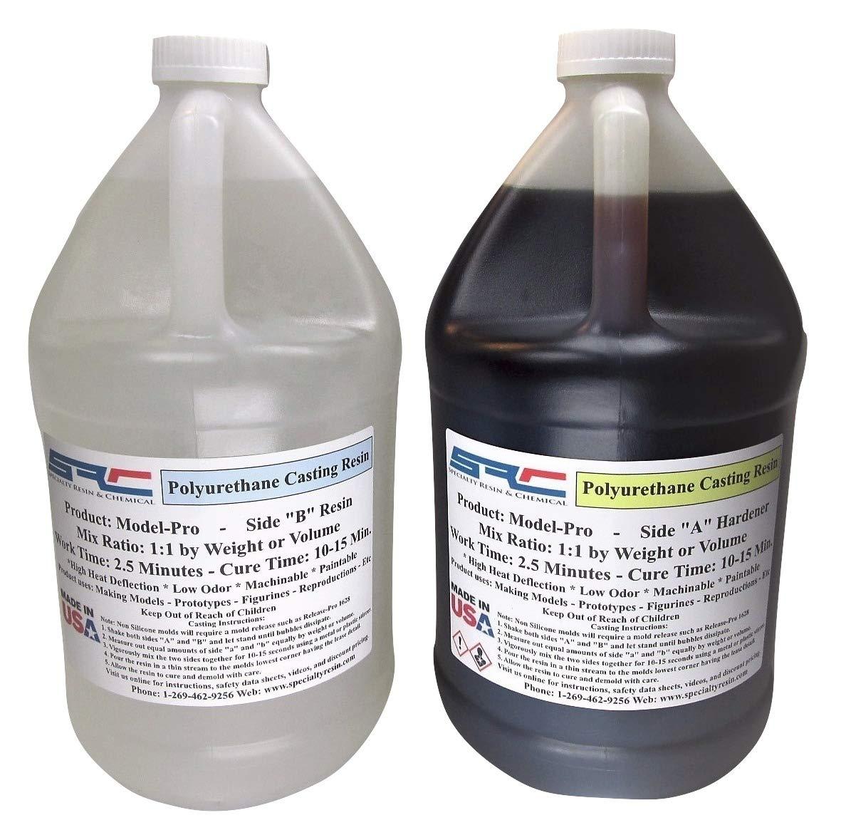 Model-Pro Polyurethane Casting Resin Liquid Plastic for Making Models and Crafts - 2 Gallon Kit