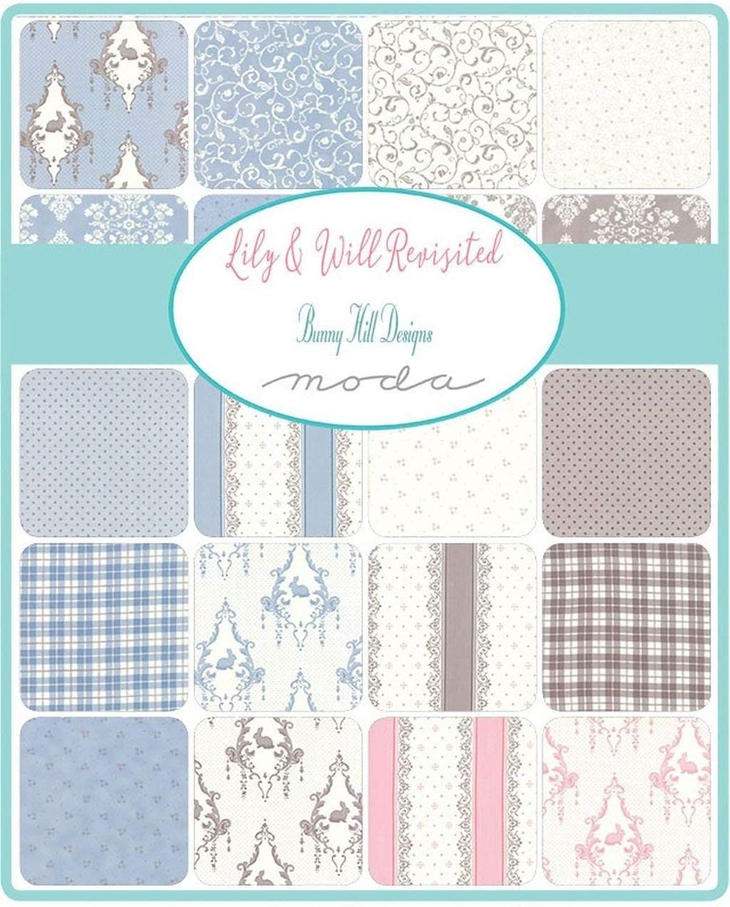 Moda Fabric Lily Will Revisited Charm Pack: Bunny Hill Designs ...
