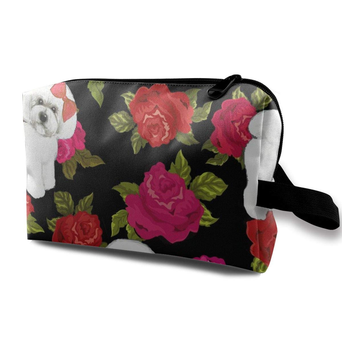 Bichon Frise On Floral_5433 - Neceser portátil para ...
