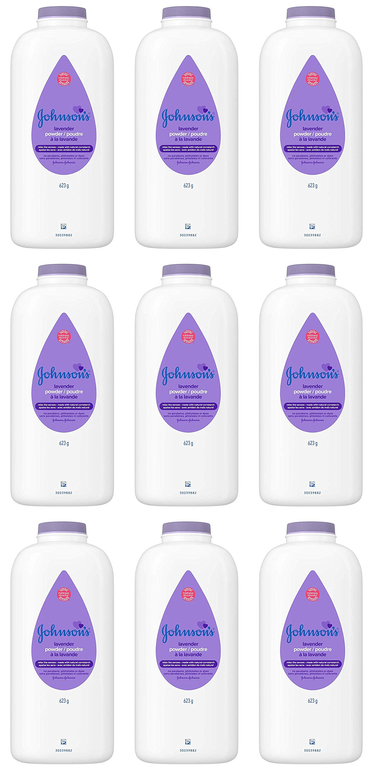 JOHNSON'S Baby Powder Calming Lavender 22 oz (Pack of 9) by Johnson's