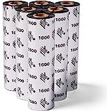 Zebra Standard Black Wax Ribbon for Thermal Transfer Desktop Printers Width 4.33 in Length 242 ft 0.5 in Core 6 Rolls 1003172