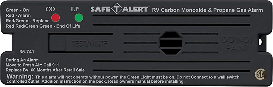 Amazon Com Safe T Alert By Mti Industries 35 741 Bl Dual Lp Co Alarm 12v 35 Series Surface Mount Black Automotive