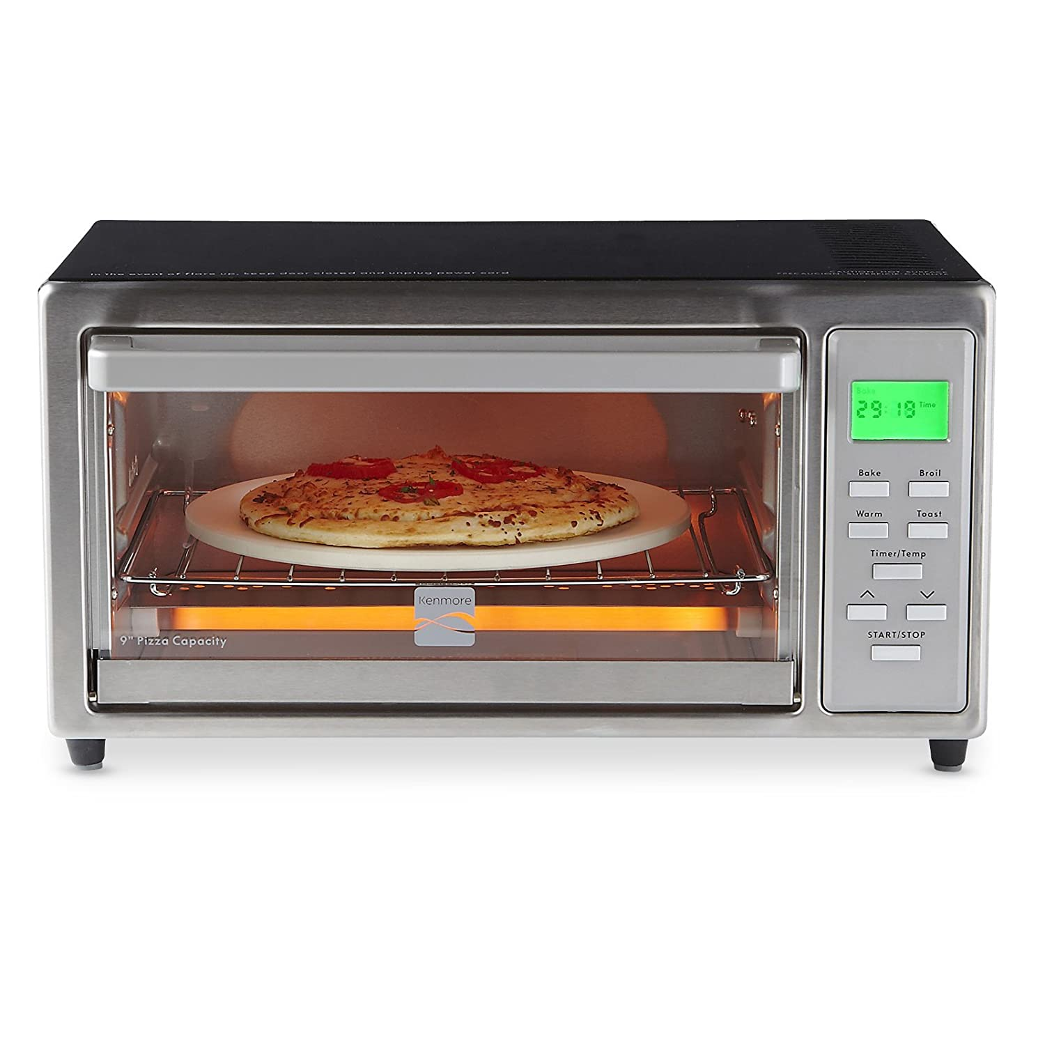 slice decker itm steel digital details oven stainless black toaster pizza about convection