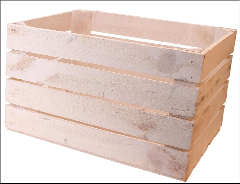 Bettin Caja de Madera Color Blanco Washed 30 x 40 x 50 cm (1 Pieza): Amazon.es: Hogar