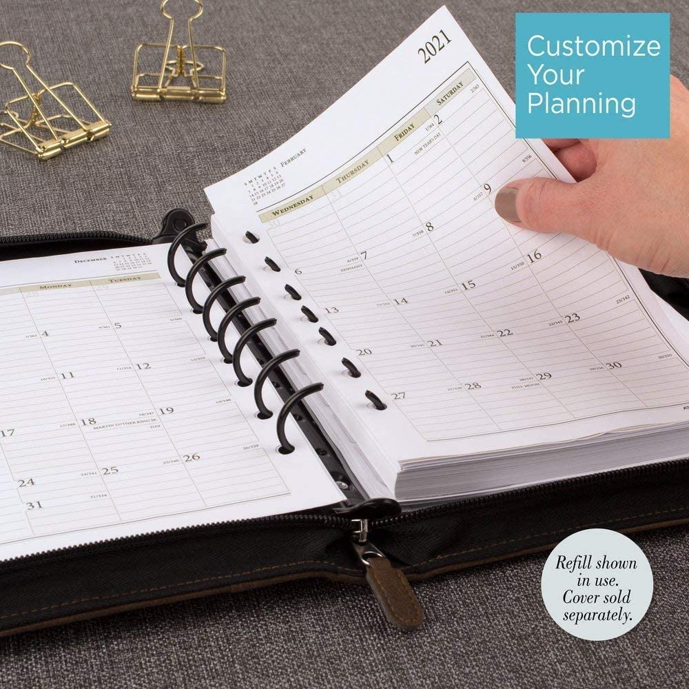 Size 4 5-1//2 x 8-1//2 2021 Daily Planner Refill by AT-A-GLANCE Two Page per Day 92800 Day-Timer 481-225-21