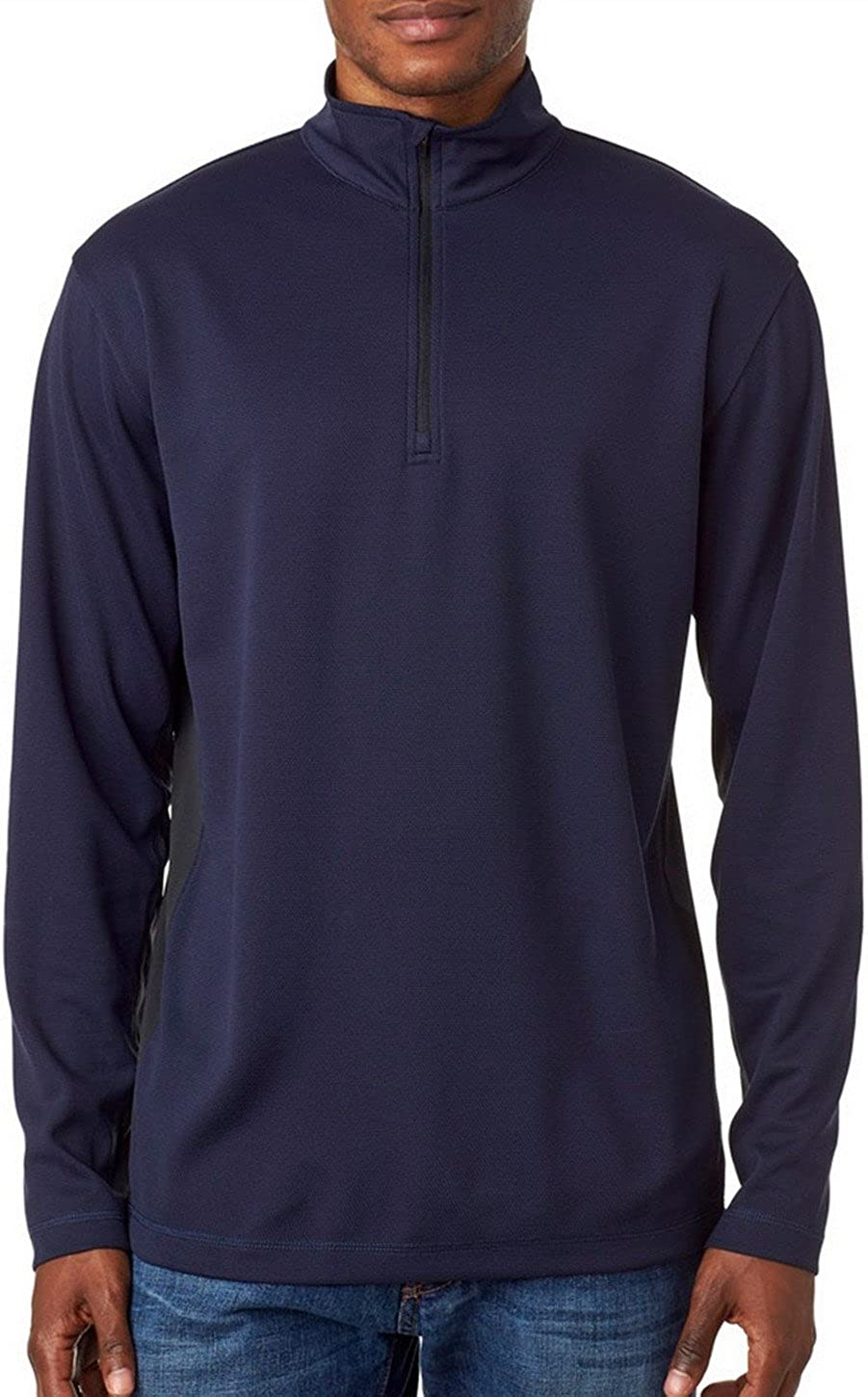 UltraClub 8237 Adult Mesh 1//4-Zip Pullover