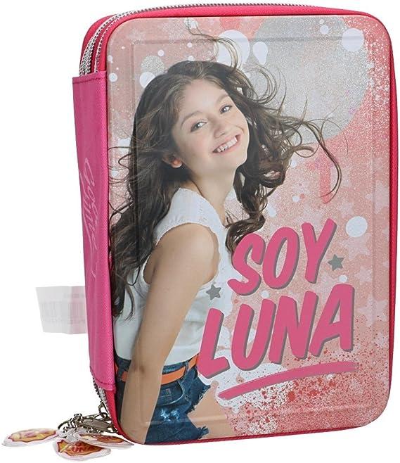Soy Luna Estuche Lápiz caso de la escuela triple rosa 3 zip VZ587: Amazon.es: Ropa y accesorios